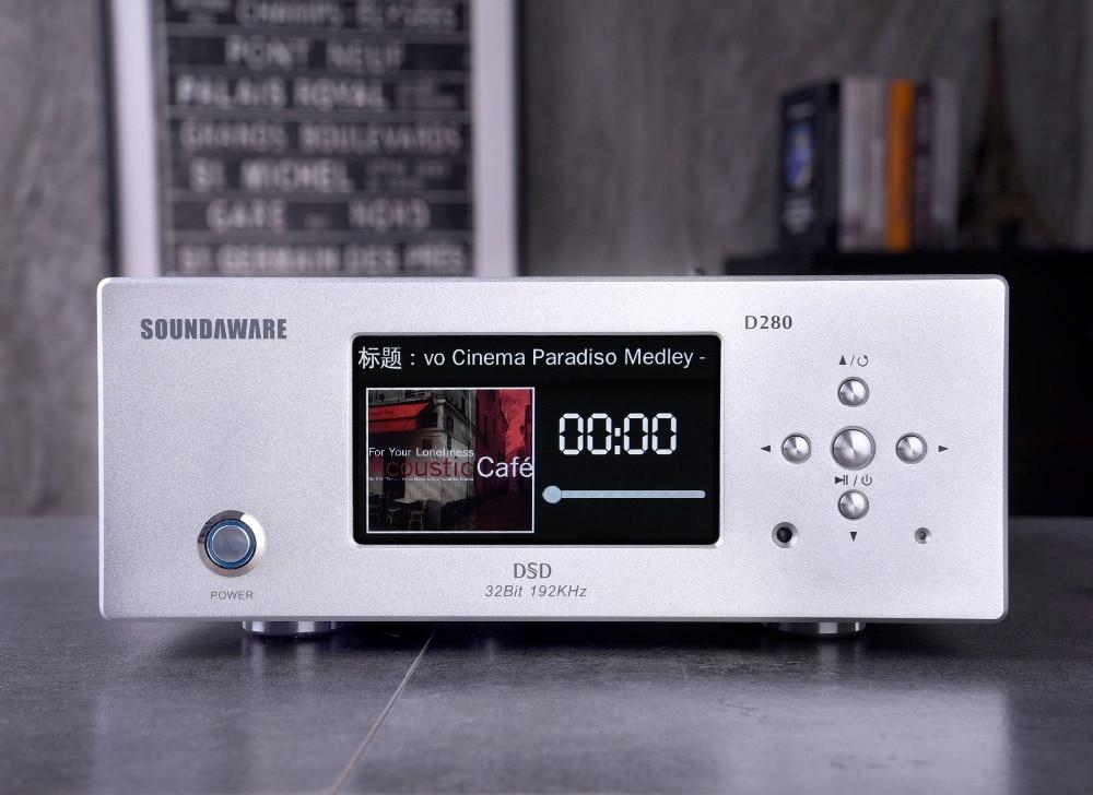 R-023 Soundaware D280 escritorio Digital giratoria de alta fidelidad apoyo Roon listo DLNA Airplay Internet wifi NAS SAMBA USB