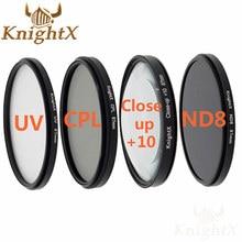 KnightX 52 MM 58 67 67 MM Afgestudeerd ND Kleur Lens fld uv cpl Filter set voor Canon Nikon Sony d5300 5D 6D 7D DSLR SLR camera Lenzen
