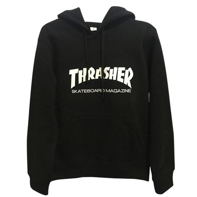 New brand Autumn Winter Fleece Skateboard Thrasher Sweatshirt Men Hoodies Women Streetwear Tracksuit Hooded Trasher Mens Hoodies