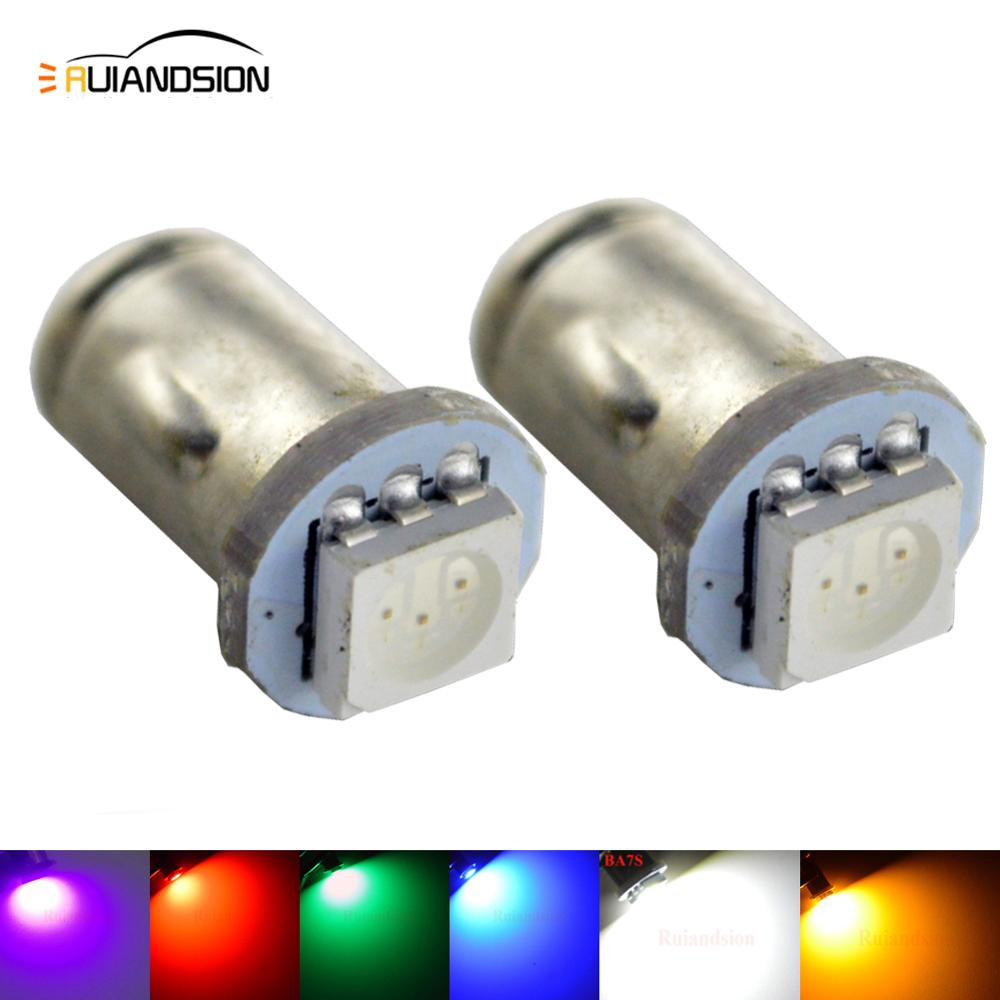 2X BA7S BASE 12V 5050SMD LED DASH WARNING LIGHT BULBS BLUE LAMPS PN 281 282 283 Red Green Yellow Pink White