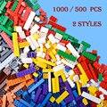 1000 unids diy bloques de construcción ladrillos juguetes creativos para niños juguetes educativos mejor regalo de los niños de juguete a granel compatible con lego