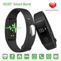 ID107 Pulseira Inteligente Pulseira Bluetooth Monitor de Freqüência Cardíaca Relógio De Fitness id 107 smartband para ios android vs fitbits mi banda 2