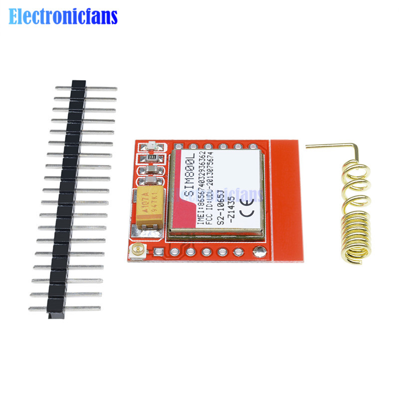 Image 4 - Mini Smallest SIM800L GPRS GSM Module MicroSIM Card Core Wireless Board Quad band TTL Serial Port With Antenna for Arduino-in Integrated Circuits from Electronic Components & Supplies