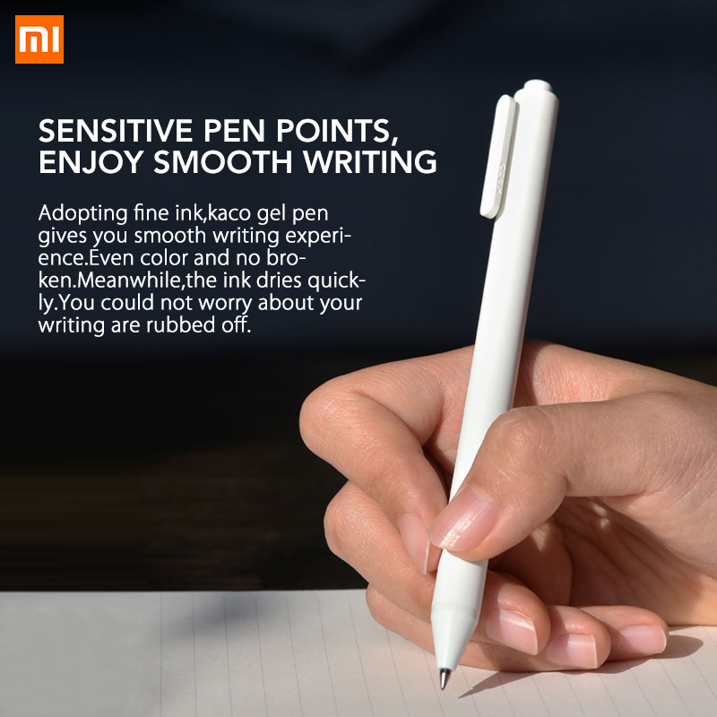 Aggressive 0.5mm Original Xiaomi Kaco Roller Mi Signing P E N Gal Ink Smooth Writing Durable Signing Black Refill 1 Pcs Retail