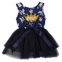 Brand New Baby Floral Dress Summer Casual Style Baby Girls Dress Bow Baby Dress Turn Down Collar Kids Clothes stylish cap sleeve turn down collar floral dress for girls