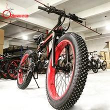 K&J 1000 power 48V12.8AH double battery snow bicycle oil brake aluminum alloy frame folding electric mountain bike E-bicycle