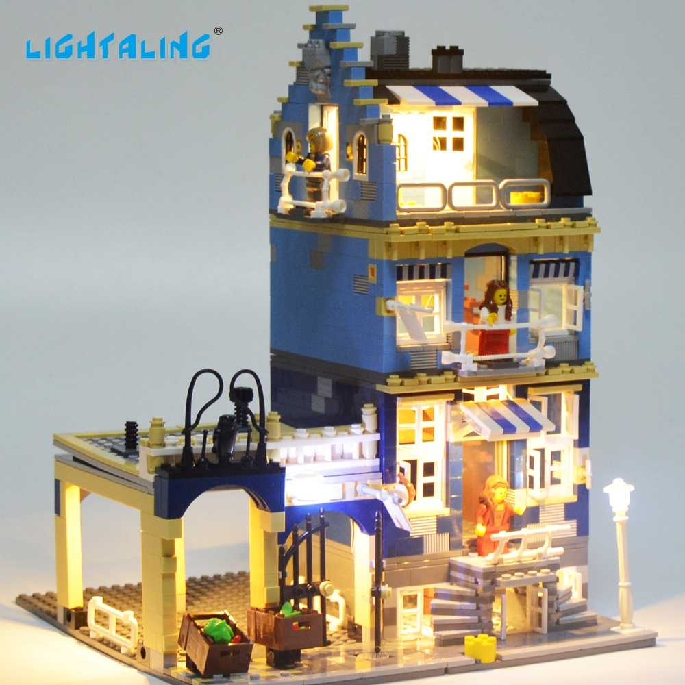 Lightaling LED Light Block Set Toy For Factory City Street European Market Model Toy Compatible with 10190