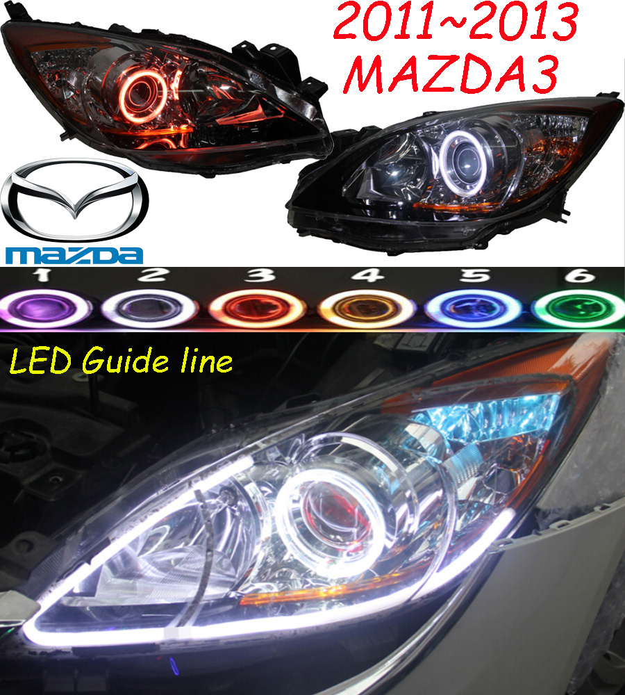 купить Mazd3 headlight,2011~2013,(LHD,If RHD need add 200USD),Free ship! MAZD3 fog light,2ps/set+2pcs Aozoom Ballast, CX-5,Atenza недорого