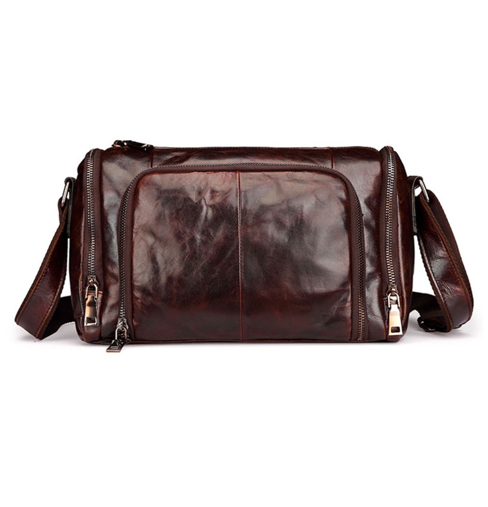 New Men Vintage Genuine leather First layer Cowhide Cross Body Shoulder Messenger Business Bag qiaobao 2018 new korean version of the first layer of women s leather packet messenger bag female shoulder diagonal cross bag
