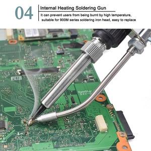 Image 3 - NEWACALOX EU/US 60W Hand held Soldering Iron Internal Heating Automatically Send Tin Gun with Power Switch Solder Gun Tool Kit
