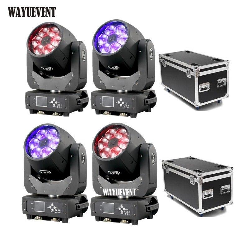 4 pièces/6x40 W faisceau de tête mobile effet de LED des yeux d'abeille RGBW Zoom Lyre lavage Dj Club lumière Dmx contrôle faisceau de LED pour scène Disco W