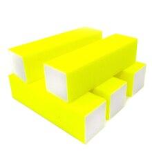 10 шт./упак. губка для маникюра брусок для шлифовки польский желтый блок для файлов 4 стороны Эмери доска пилочки для полировки ногтей салонные инструменты для маникюра