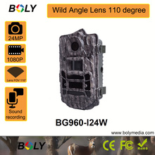 hunting trail cameras  24MP photo 1080p HD Bolyguard wild camera wide angle 110 degree lens 850nm LED 100ft night vision
