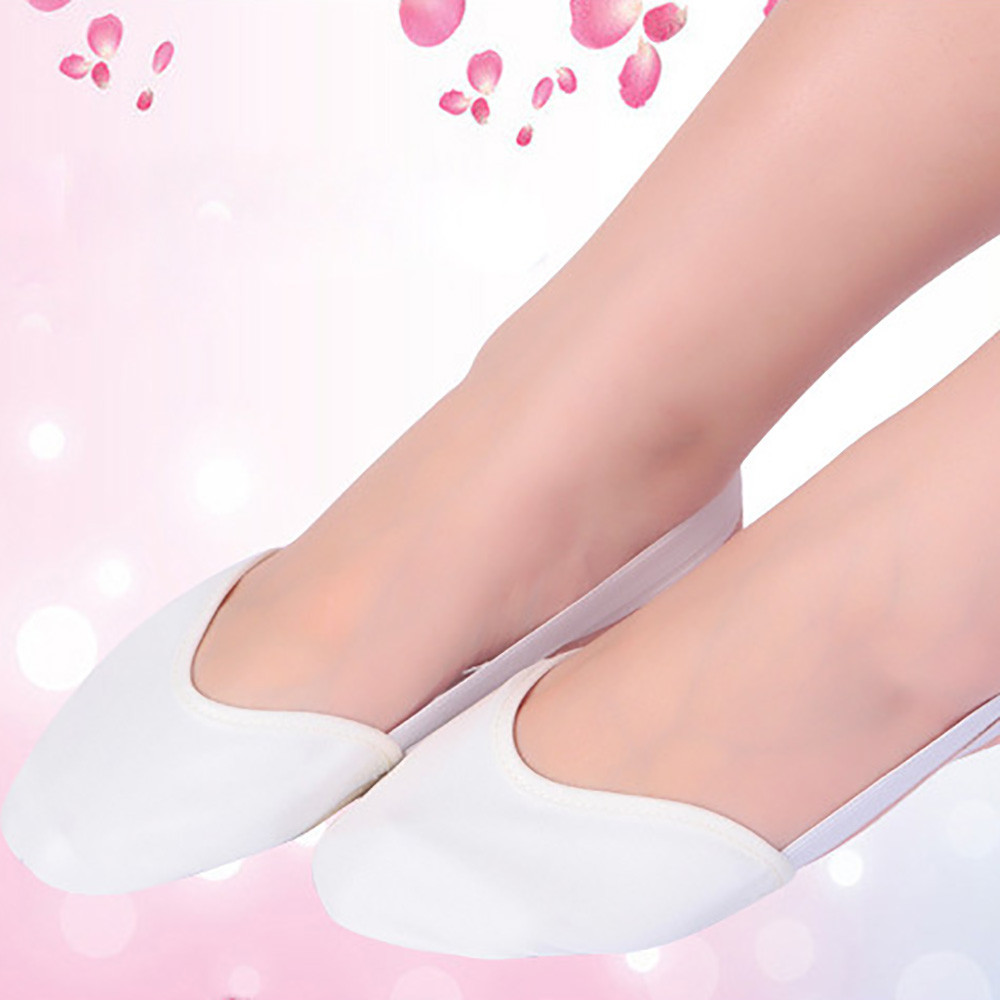 лучшая цена SAGACE 2018 According The cm To Buy Ballet Shoes Canvas Flat Slippers salsa Ballet dance Shoes For Girls Children Woman