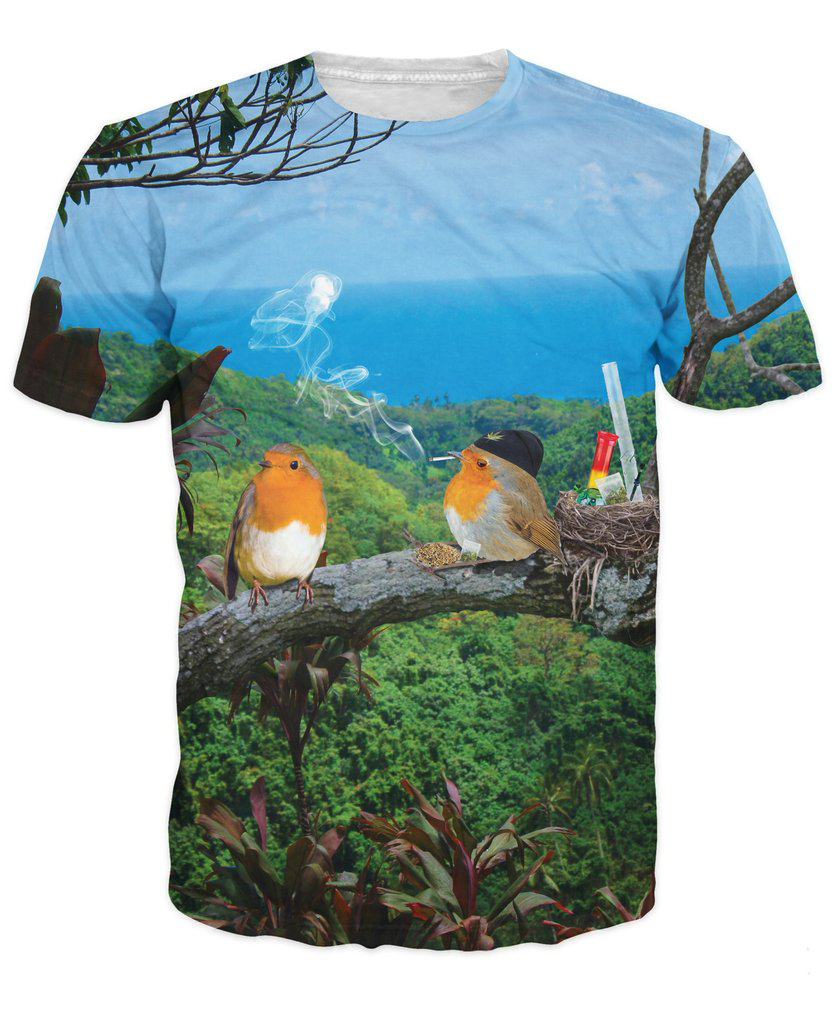 2 Birds, 1 Stoned T-Shirt SWEET T SHIRT ANIMAL 3d Print t shirt Women's Fashion Clothing tees tshirts
