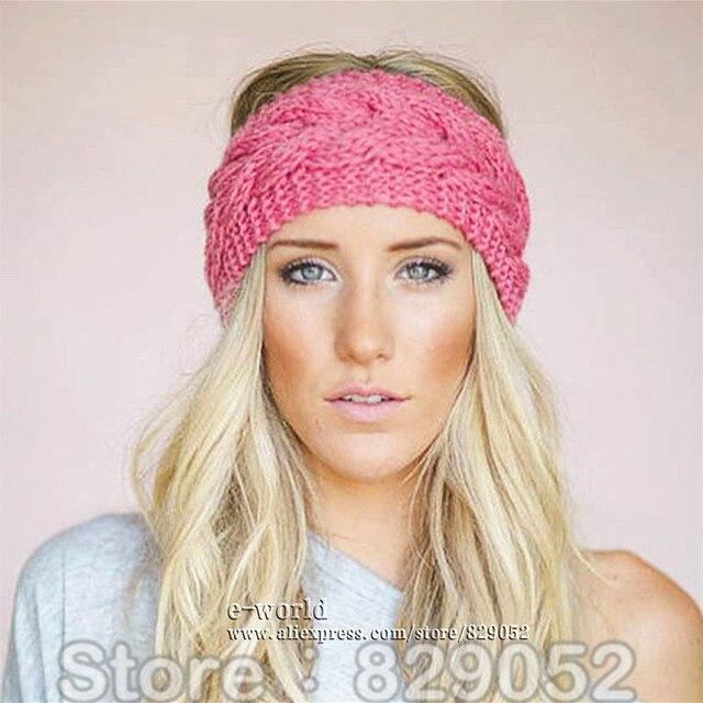 Headband Head Wrap Knitting Pattern : Aliexpress.com : Buy Wool Knitted Turban Headbands For ...