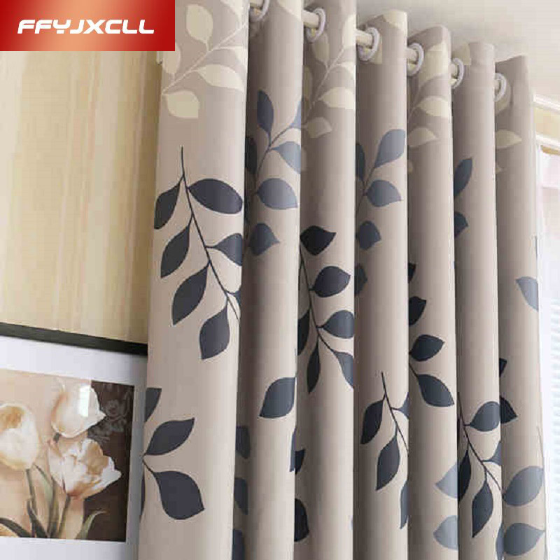 Home Use Blackout Curtain Pastoral Floral Printed Window Panel Curtains Sheer Room Divider Curtain for living room bedroom