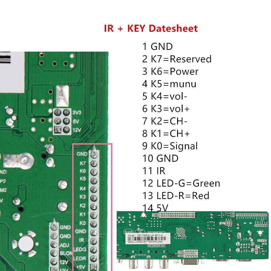 Image 2 - 3663 Новый цифровой сигнал DVB C DVB T Универсальный ЖК телевизор контроллер драйвер платы обновления 3463A русский USB play LUA63A82Интегральные схемы    АлиЭкспресс