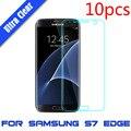 10 unids para samsung galaxy s7/s7 edge plus flim de la pantalla de la cubierta completa de la suciedad resistente a los arañazos protector de pantalla crystal clear tpu película