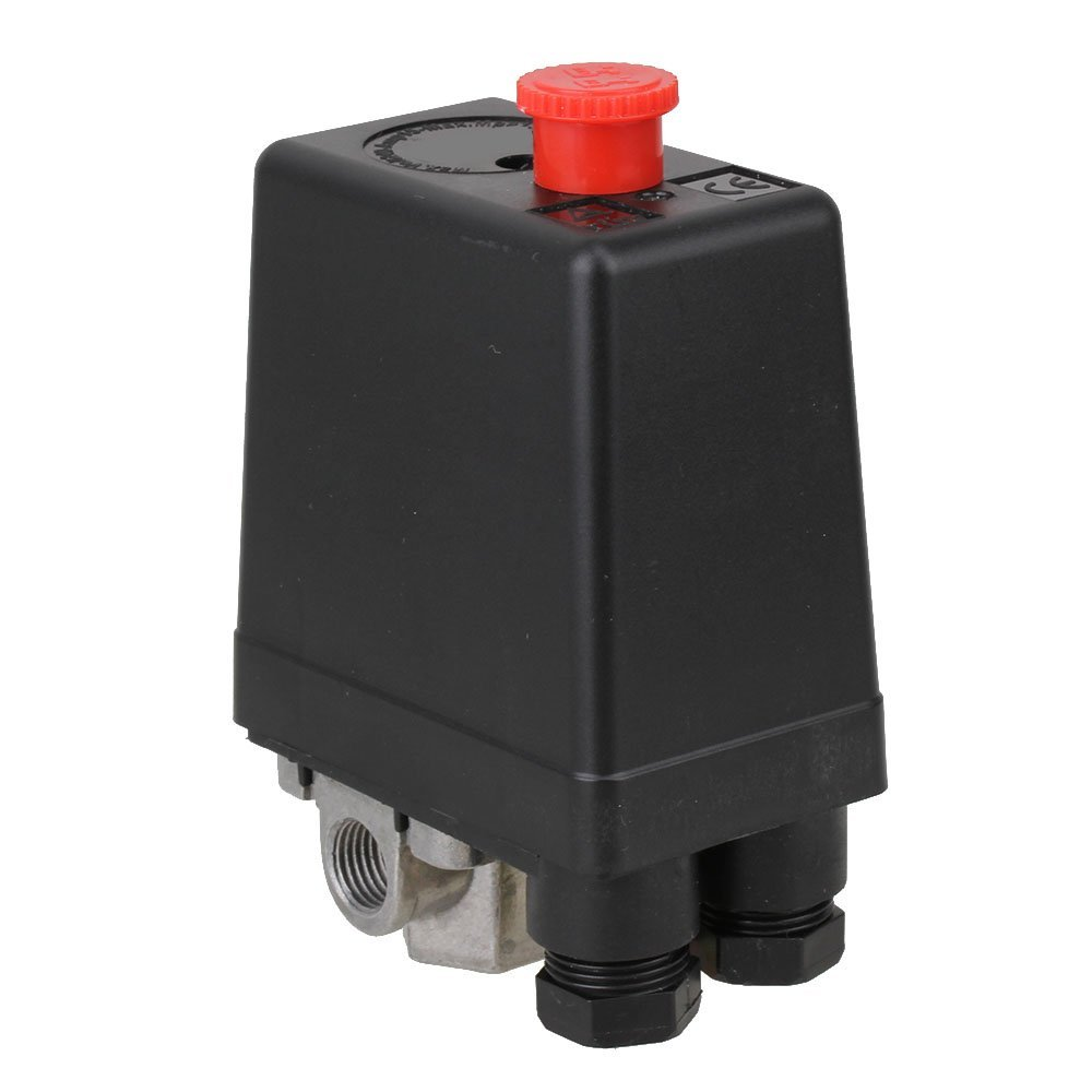 Vertical Type Replacement Part 4 Port SPDT Air Compressor Pump Pressure On / Off Knob Switch Control Valve 80-115 PSI AC220-240V vertical type replacement part 1 port spdt air compressor pump pressure on off knob switch control valve 80 115 psi ac220 240v