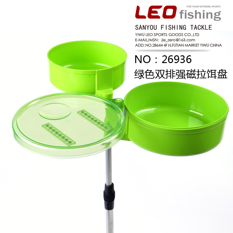 Green Pull Bait Tray Insert Pole Type Fast Food Tray Durable For Fishing Fish корм tetra tetramin xl flakes complete food for larger tropical fish крупные хлопья для больших тропических рыб 10л 769946