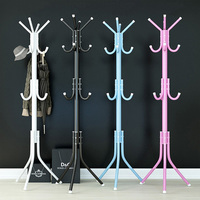 Coat Clothes Hanger Rack ,175cm Big 12 Hooks Hanging Pole Floor Stand Tree Holder Organizer for Clothes Hat T shirt Bags Jacke