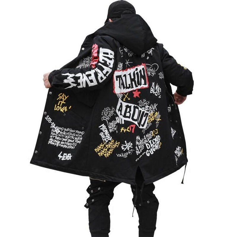 2019 The New Autumn Jacket Ma1 Bomber Coat China Have Hip Hop Star Swag Tyga Outerwear Long Style Casual Trench Coat