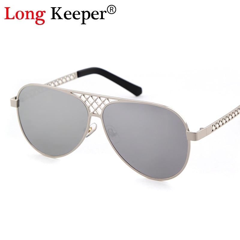 Long Keeper mens retro Steampunk Gafas de sol mujeres gradiente lente Gafas gran tamaño Marcos eyewears gafas Steampunk UV400 j1120m