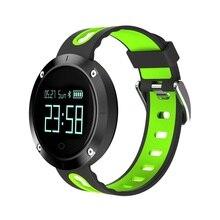 Bluetooth сердечного ритма Смарт-браслет с крови Давление монитор фитнес трекер спортивные полосы IP68 водонепроницаемый смарт-часы