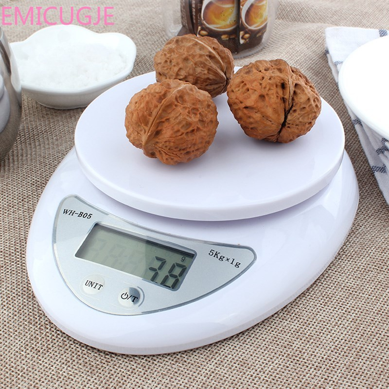 Scales LED Electronic Scales Kitchen 5000g/1g 5kg Food Diet Postal Kitchen Scales Balance Measuring Weighing