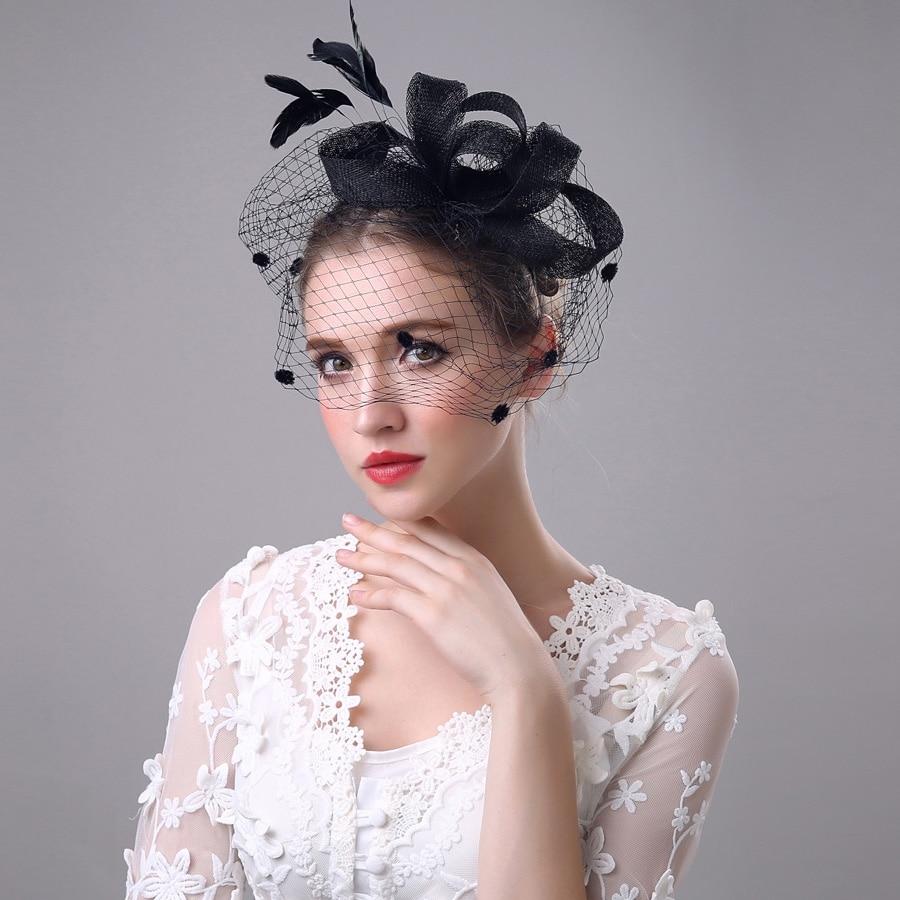 Bridal hats latest bow mesh 5 color fascinator hats cheap haaraccessoires  bruid wholesale wedding hats and fascinators 69577b5bb31
