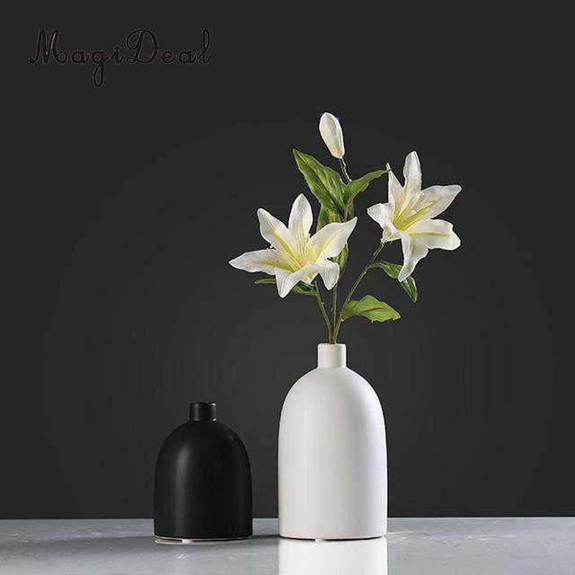 Ceramic Flower Vase Small Bud Vase Decorative Floral Vase For Home