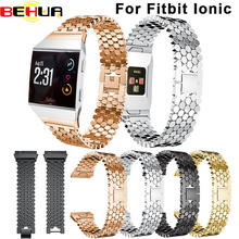 BEHUA Watchband 2017 NEW Solid Stainless Steel Accessory Watch Band Strap Metal Bands For Fitbit Ionic wristband Drop shipping