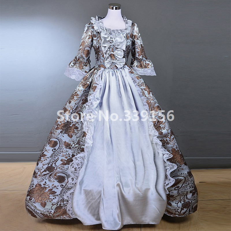 Victorian Dress Medieval Renaissance Costume Marie Antoinette Theater Ball Gown