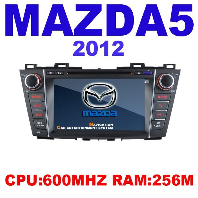 Car DVD for MAZDA 5 2012 CPU:600MHZ RAM 256M with GPS bluetooth RDS Ipod USB TV Sat Nav Free shipping
