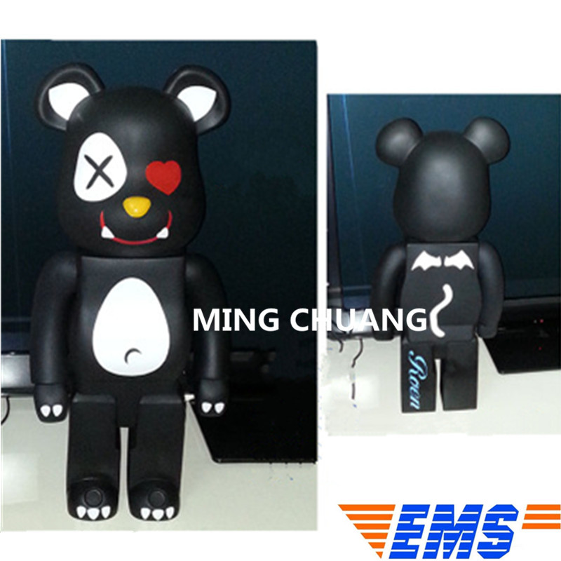 27Bearbrick Gloomy BB Kaws 1000% Be@rbrick Street Art Christmas Present Vinyl Action Figure Collectible Model Toy 70CM BOX Z31 цена