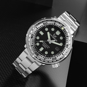 Image 4 - San Martin NEW Tuna SBBN015 Fashion Automatic Watch NH35 Movement Stainlss Steel Diving Watch 300mWater Resistant Ceramics bezel