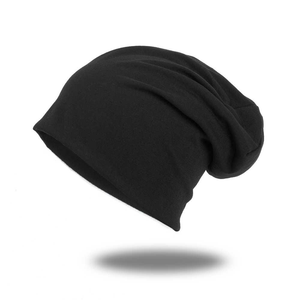 Geebro 2019 kadın erkek Unisex örme kış kap Casual Beanies katı renk Hip-hop yapış Slouch Skullies Bonnet bere şapka