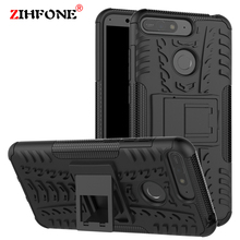 Bumper Armor Case For Honor 7A Pro Heavy Duty Stand Holder Silicone Cover Huawei