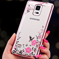 Tampa do telefone celular para samsung galaxy note 3 4 5 note3 N910 nota4 N9000 note5 Duos N920 Caso Ultrafinos de Silicone Macio Que Bling Glitter