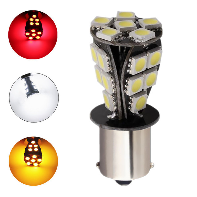 1156 21 SMD BAU15S led car bulbs canbus No Error py21w Lamp External Lights Car Light Source 12V Red White Yellow