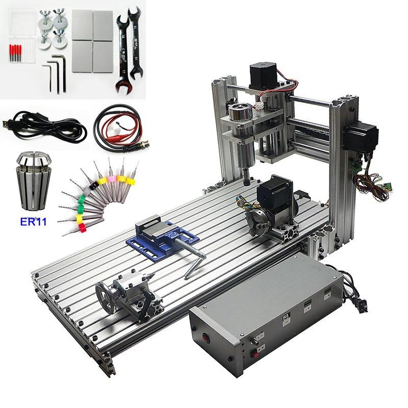 Roteador cnc usb 6030 400 w 4 eixos cnc gravura máquina de corte para trabalhar madeira