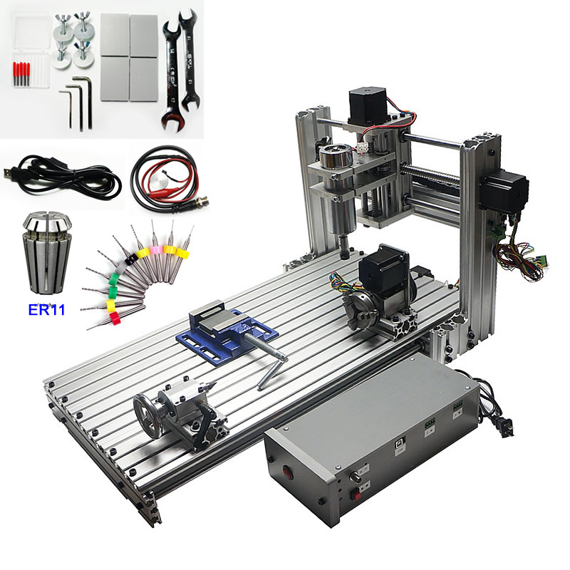 USB CNC Router 6030 400W 4 Axis CNC Engraving Cutting Machine For Woodworking