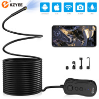 KZYEE WIFI Multifunction Endoscope Camera 5.5mm Lens HD Semi rigid Waterproof Phone Camera Hard Cable Snake Wireless Borescope