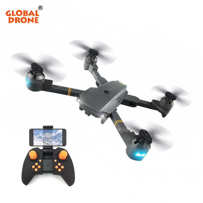 Global Drone Foldable Selfie Dron Long Range Remote Control Wifi FPV Quadcopter with Camera HD Wide Angle 1080P VS VISUO XS809HW xs809hw fpv dron selfie drones with camera hd 2mp folding quadcopter one key return headless rc helicopter remote control toys