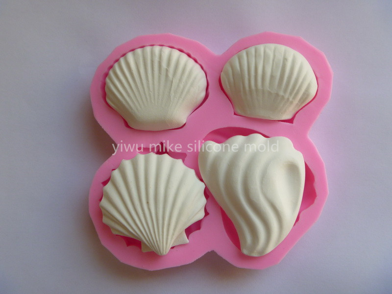 factory shop ,shell design cake silicone fondant mold for cake decorating tools mk-503