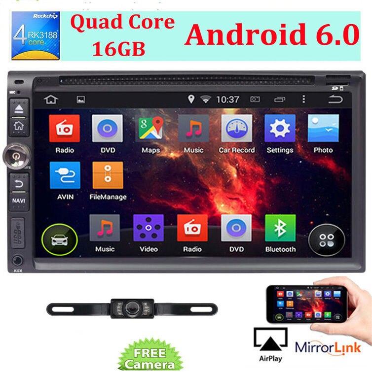 "6.95 ""2 DIN Android 6.0 3 г Wi-Fi GPS NAVI Стерео DVD Радио плеер Bluetooth"