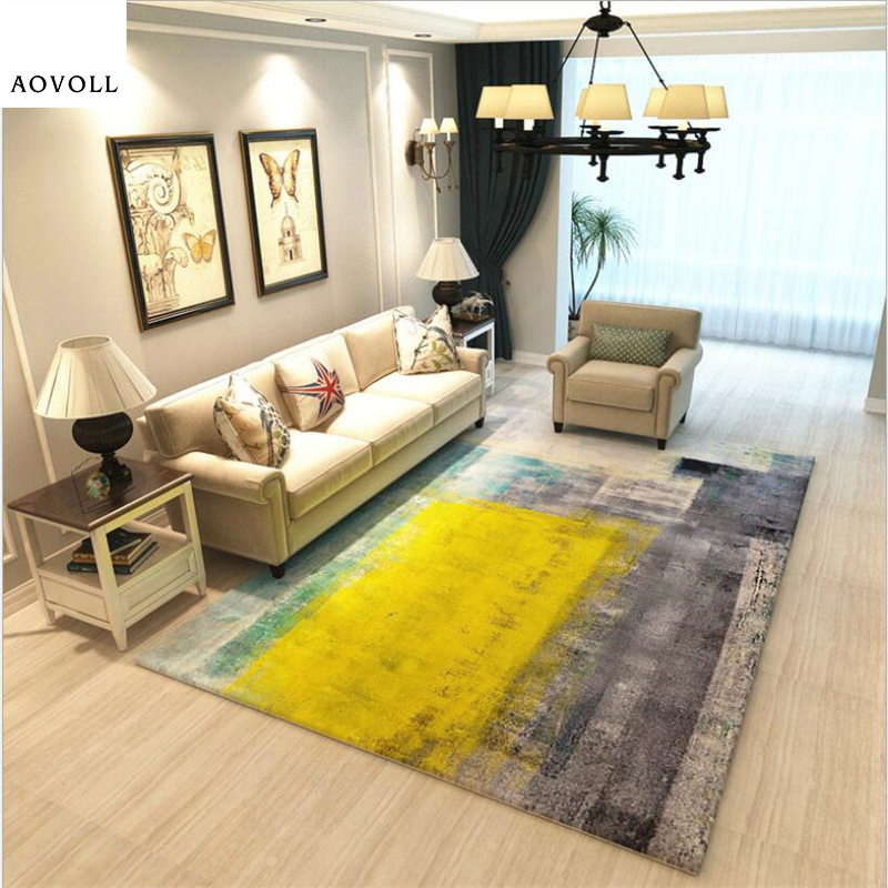 AOVOLL Soft Large Carpets For Living Room Bedroom Kid Room Rugs Home Carpet Floor Door Mat Fashion Abstract Delicate Area Rug