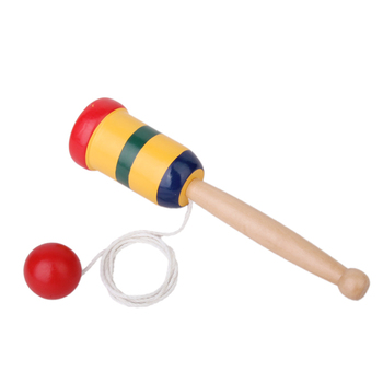High Quality Kids Japanese Wooden Toy Kendama Cup and Ball Preschool Educational Gift Outdoor Fun Party Game Toys For Children locket