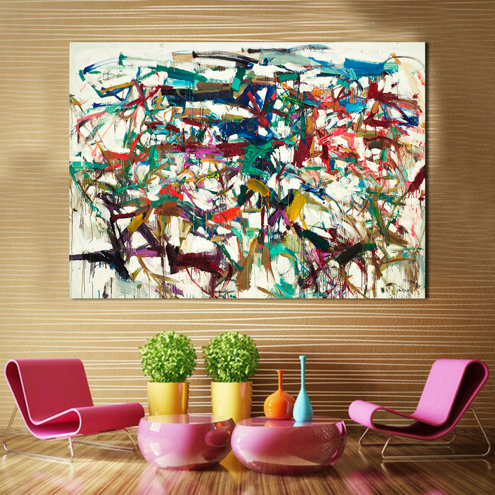 """""""Rainbow Abstract"""" Framed Canvas Painting - Canvas Paintings Under $5,000"""
